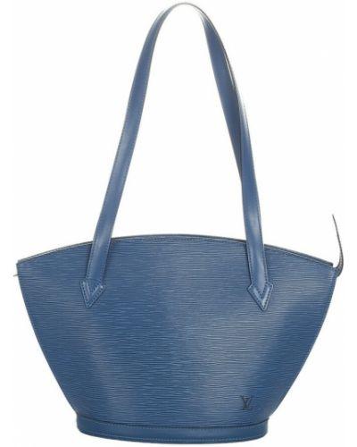 Niebieski pasek skórzany Louis Vuitton Vintage