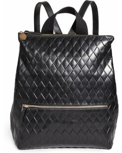 Czarny plecak skórzany pikowany Clare V.