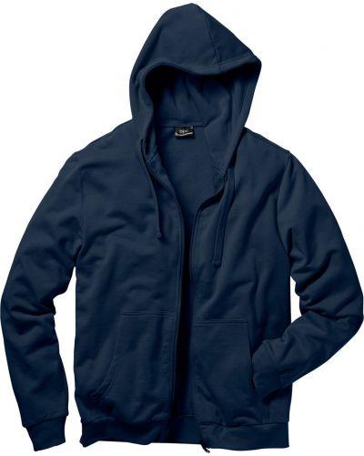 Куртка с капюшоном темно-синяя синяя Bonprix