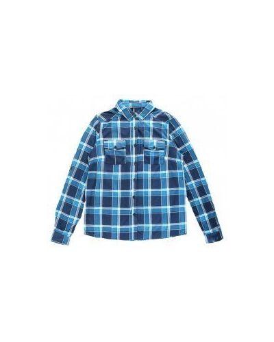 Рубашка в клетку - синяя Moodo