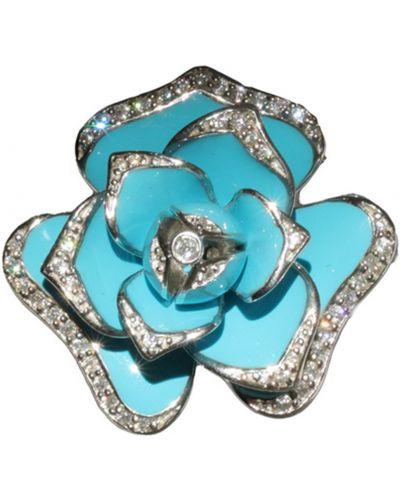 Золотая подвеска серебряный бирюзовый Jewelry Box