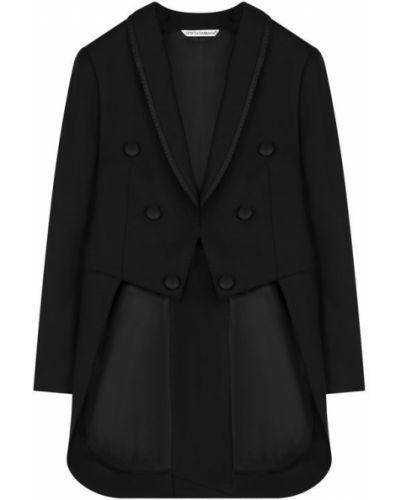 Пиджак шерстяной черный Dolce & Gabbana