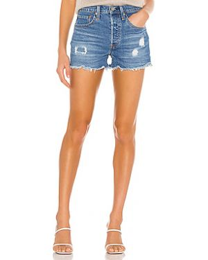 Рваные джинсовые шорты на пуговицах со стразами Levi's®