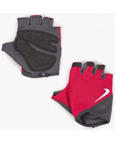 Розовые перчатки для фитнеса Nike