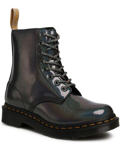 Szary buty skórzane sztuczna skóra Dr. Martens