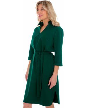 С рукавами летнее платье с капюшоном из габардина для офиса Nikol