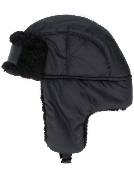 Czarny czapka z nausznikami wełniany klamry Dolce And Gabbana