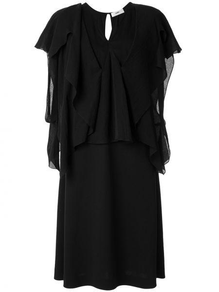 Прямое приталенное платье миди с V-образным вырезом с драпировкой Muller Of Yoshiokubo