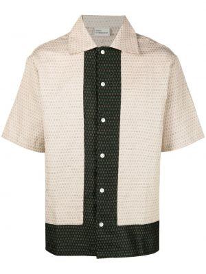 Klasyczna koszula krótki rękaw bawełniana z haftem Drole De Monsieur