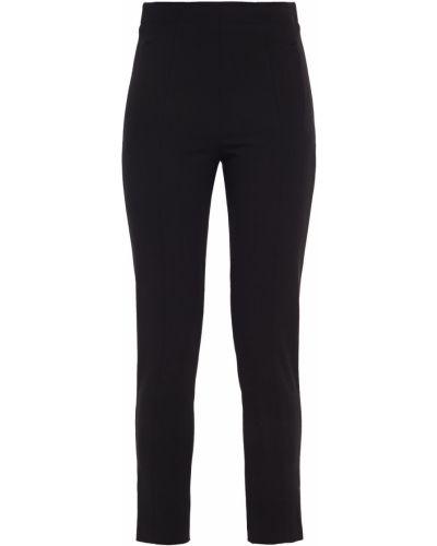 Czarne spodnie rurki z wiskozy Tibi