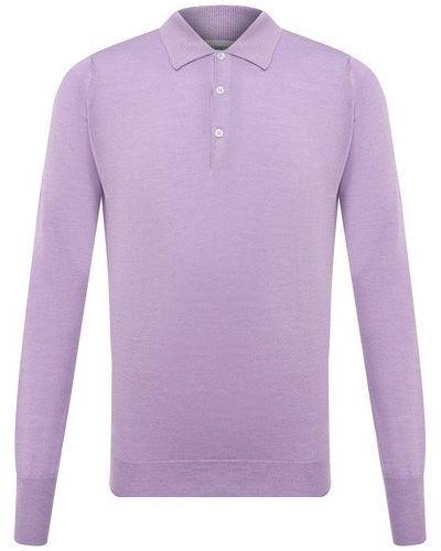 Фиолетовое хлопковое поло John Smedley