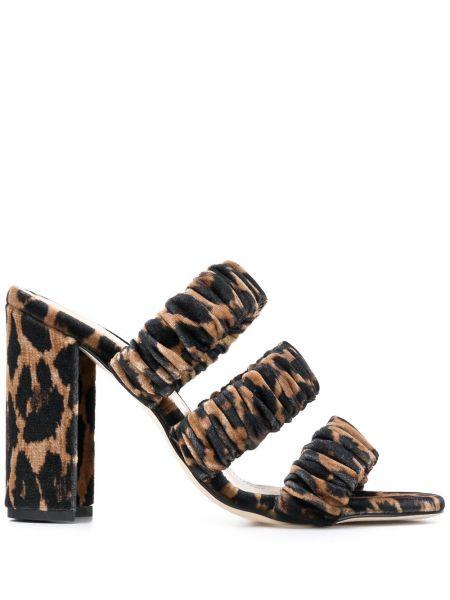 Массивные открытые черные босоножки на высоком каблуке на каблуке Chloe Gosselin