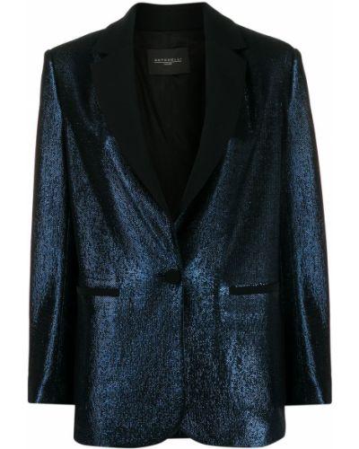 Однобортный синий удлиненный пиджак с воротником Antonelli