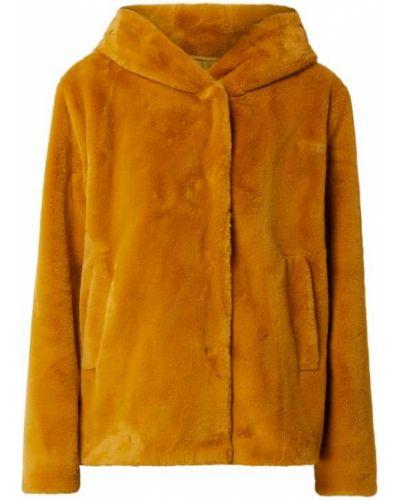 Żółta kurtka z kapturem z bursztynem Amber & June