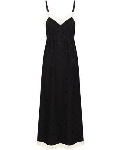 Платье миди на бретелях ажурное Mcq