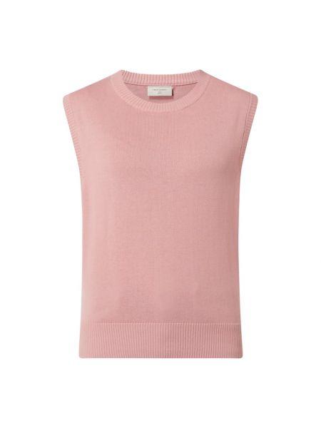 Prążkowana różowa kamizelka bawełniana Free/quent