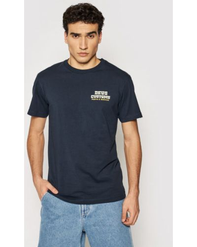 T-shirt granatowa Deus Ex Machina