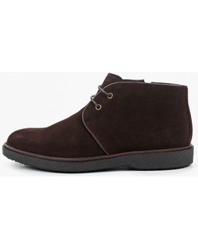 Велюровые коричневые ботинки Mascotte