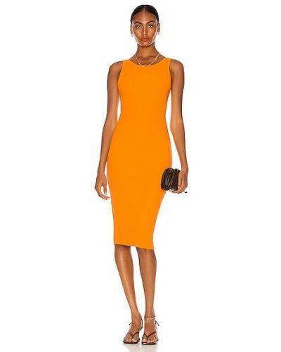 Оранжевое шелковое повседневное платье Enza Costa