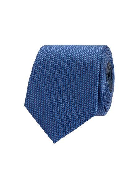 Niebieski jedwab krawat wąskie cięcie wąskie cięcie Jake*s