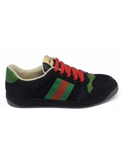 Zielone sneakersy zamszowe Gucci