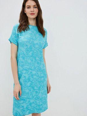 Платье бирюзовый прямое Marytes