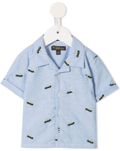Koszula krótki rękaw - niebieska Velveteen
