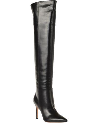 Кожаные сапоги - черные Gianvito Rossi