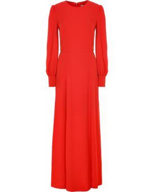 Шелковое платье макси - красное A La Russe