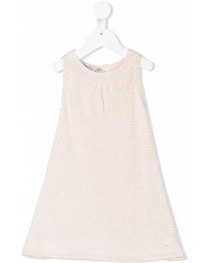 Różowa sukienka z jedwabiu bez rękawów Baby Dior