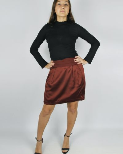 Бордовая юбка Kookai