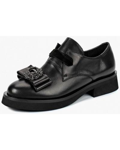 Кожаные ботинки осенние на каблуке Grand Style