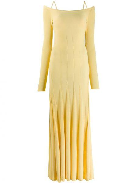 Sukienka letnia z długim rękawem z paskiem Jacquemus