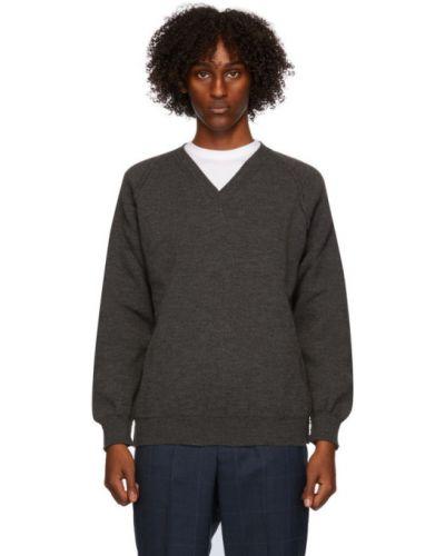 Sweter z dekoltem w serek z długimi rękawami Comme Des Garcons Homme Deux