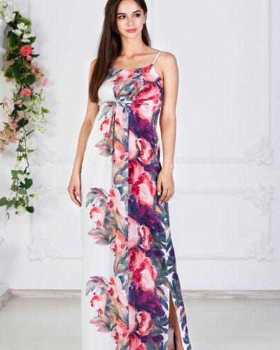 Платье с поясом из штапеля платье-сарафан азалия