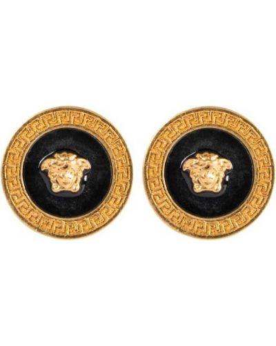 Czarne kolczyki sztyfty Versace