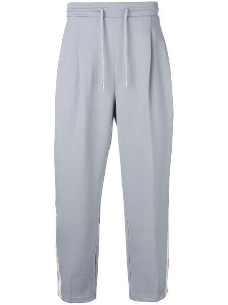 Spodnie z wysokim stanem w paski bawełniane Ader Error