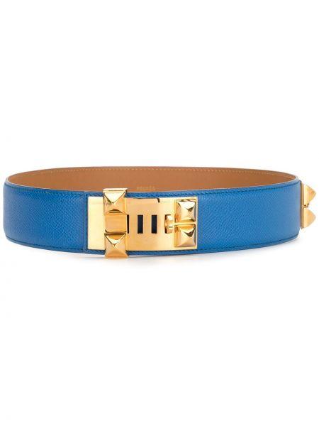 Кожаный ремень с пряжкой с заклепками Hermès