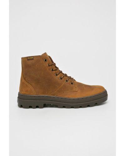 Кожаные ботинки из нубука на шнуровке Palladium
