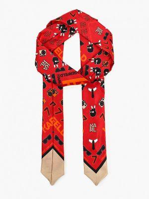 Красный шарф Karl Lagerfeld