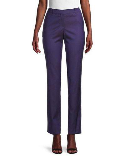 Шерстяные прямые брюки с карманами Boss Hugo Boss