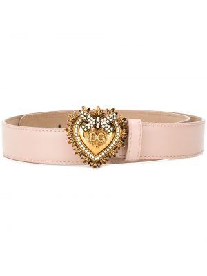 Ремень розовый с пряжкой Dolce & Gabbana
