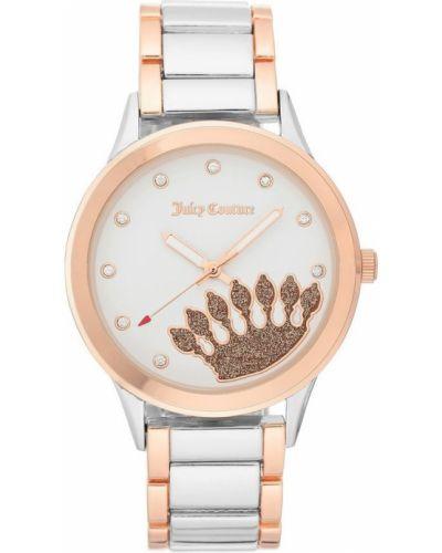 Biały zegarek mechaniczny kwarc Juicy Couture
