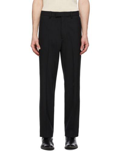 Брючные черные брюки с поясом Second/layer