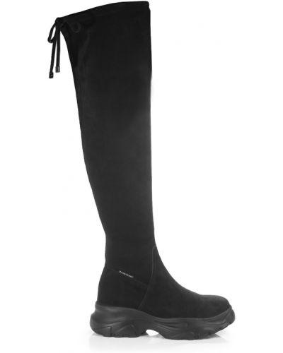 Ботфорты на шнуровке - черные Barbilioni