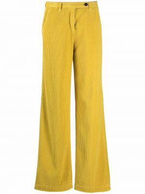 Брюки вельветовые - желтые Massimo Alba