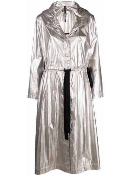Серебряное пальто классическое Sara Lanzi