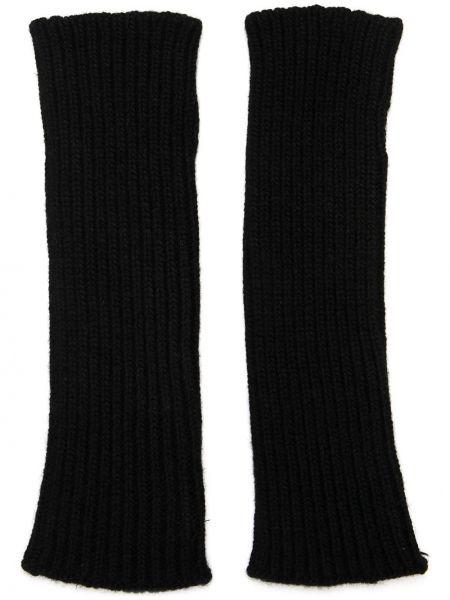 Z kaszmiru czarne rękawiczki bez palców Antonella Rizza