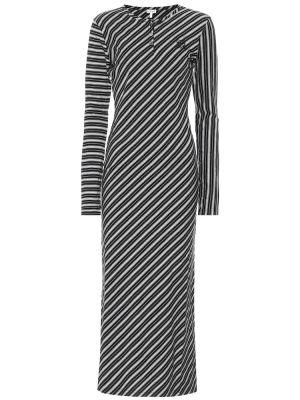 Хлопковое платье макси - белое Loewe