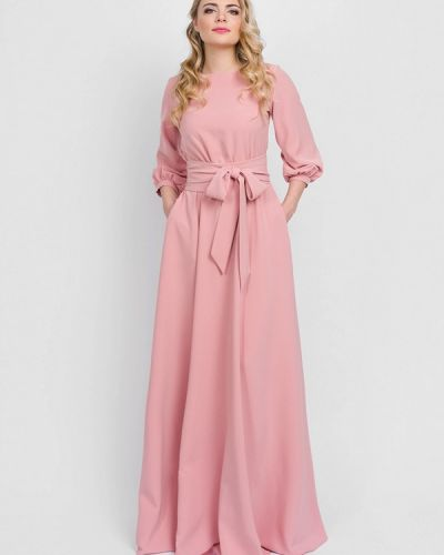 Платье макси - розовое Eva